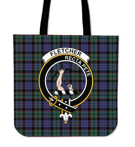 Tartan Tote Bag - Fletcher Modern Clan Badge | Special Custom Design