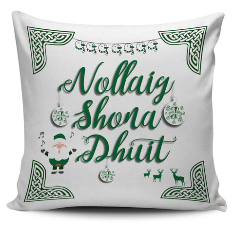 Image of Ireland Pillow Cover Nollaig Shona Duit