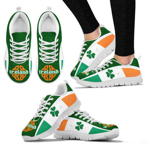 Image of Ireland Celtic Sneakers Shamrock Flag - Patterns Celtic Shamrock