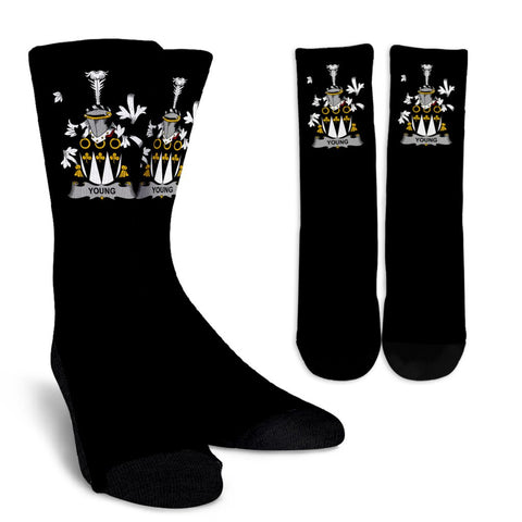 Young Ireland Crew Socks - Irish Family Crest  | Over 1400 Crests | High Quality | 1sttheworld