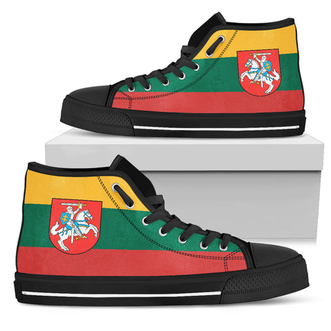 Lithuania - Lietuva Flag High Top - Men's/Women's Canvas Shoes NN6