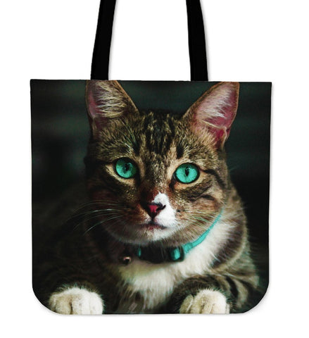 Tote Handbag Emerald Eye Cat