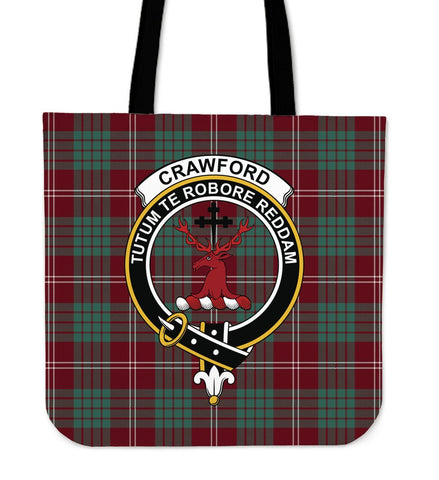 Tartan Tote Bag - Crawford Modern Clan Badge | Special Custom Design