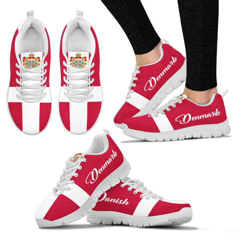 Denmark Flag And Coat Of Arms Sneakers K5
