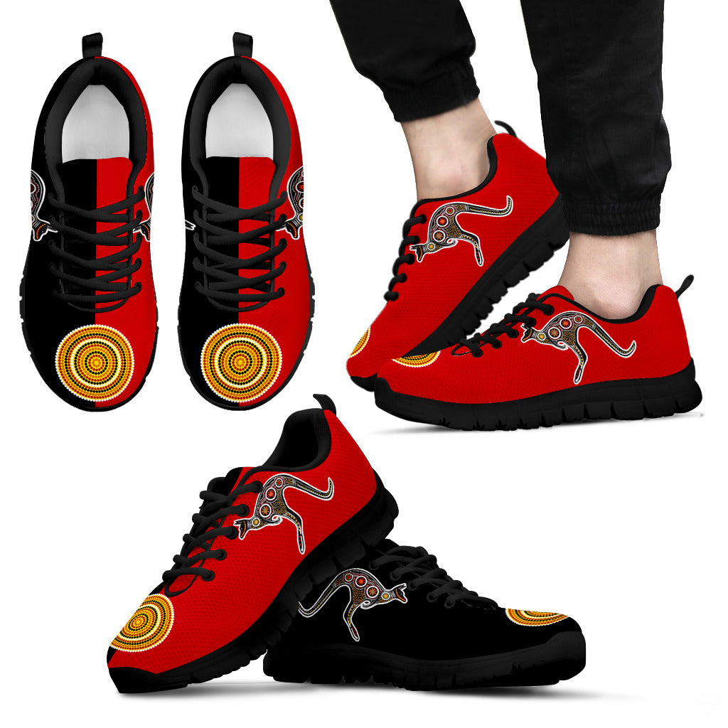 cheap for discount 7db8a 39b92 Australian Aboriginal Flag And Kangaroo Sneakers TH76 – LoveTheWorld