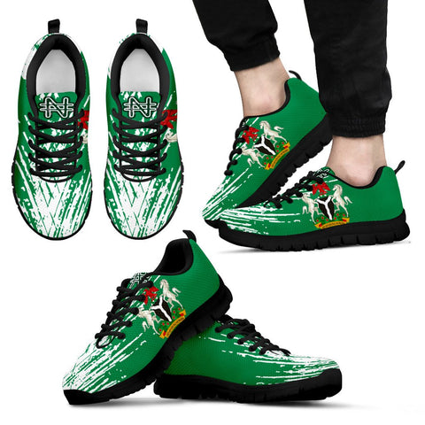 Nigeria Sneakers - Flag And Coat Of Arm