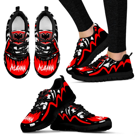 Image of Albania Sneakers - Crazy Albania Style - Black - For Women