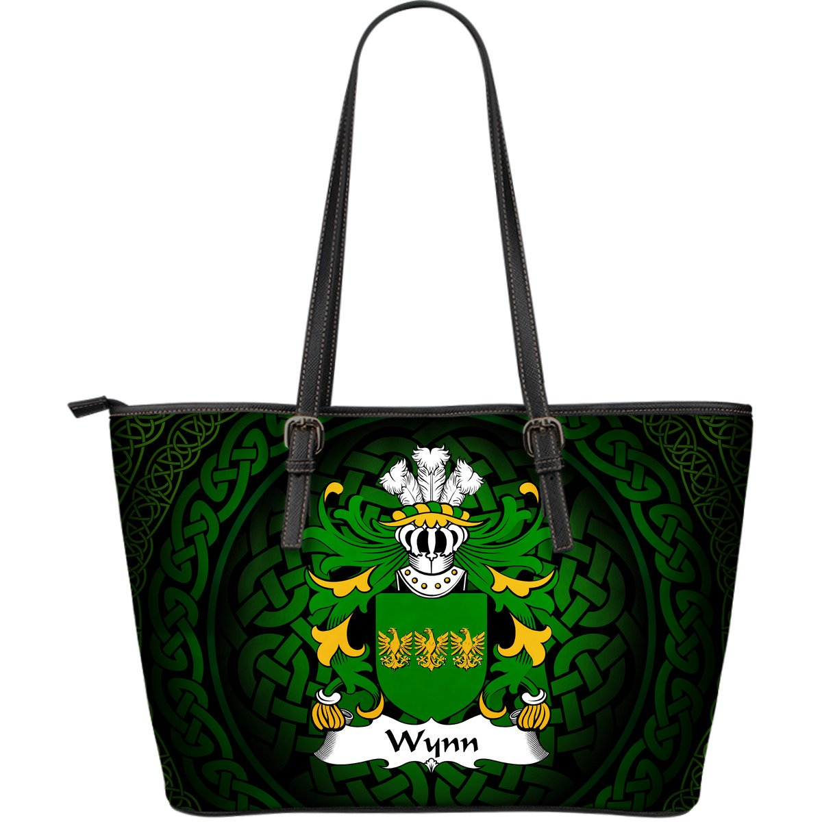Celtic Wales - Wynn (Of Gwydir, Caernonfonshire) Welsh Surname Leather Tote