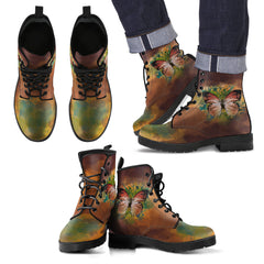 Butterfly Leather Boots - Butterfly Vintage - BN04