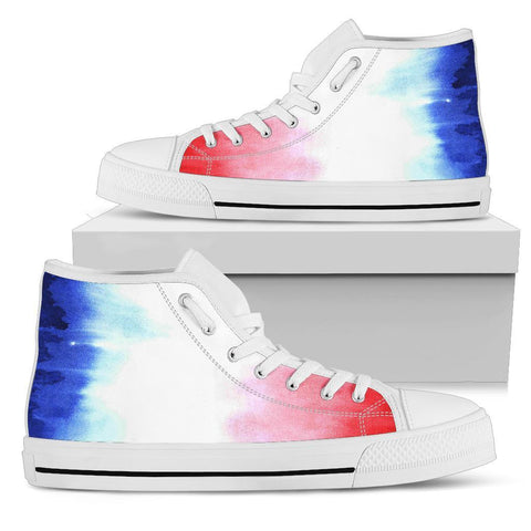 Image of France High Top Shoe - Francais Flag Basic