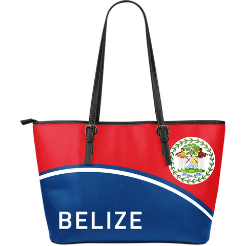 Belize Large Leather Tote - Curve Version