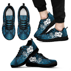 Guam Seal Hibiscus In Polynesian Style Men's/Women's Sneakers (Shoes) NN9
