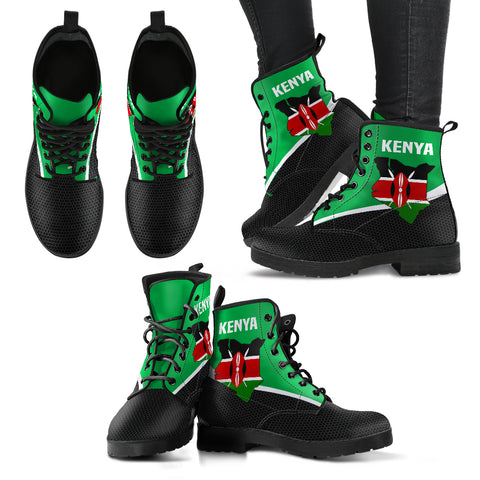 Image of Kenya Map Special Leather Boots | High Quality | Hot Sale