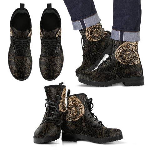 Image of Polynesian Tattoo Style Leather Boots | Women & Men