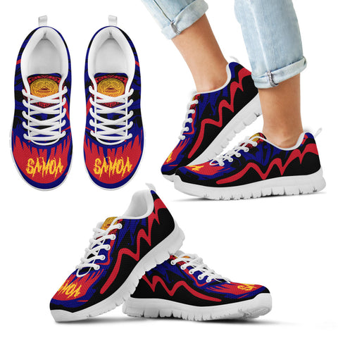 Image of American Samoa Sneakers - Crazy Style - White - For Women