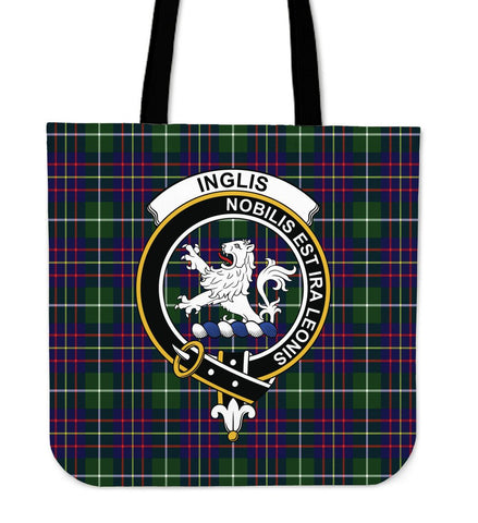 Tartan Tote Bag - Inglis Modern Clan Badge | Special Custom Design
