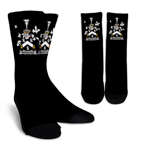 Woodlock Ireland Crew Socks - Irish Family Crest  | Over 1400 Crests | High Quality | 1sttheworld