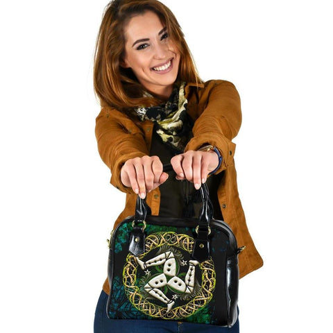 Celtic Shoulder Handbag  - Isle of Man With Celtic Patterns