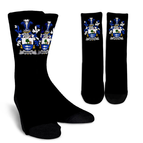 Woulfe Ireland Crew Socks - Irish Family Crest  | Over 1400 Crests | High Quality | 1sttheworld