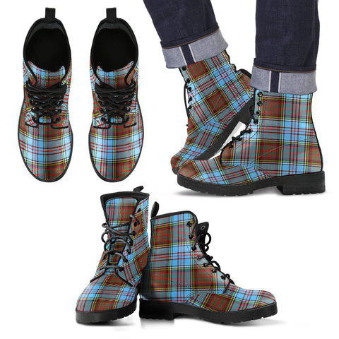 Allison Tartan Leather Boots Hj4 |Footwear| Love The World