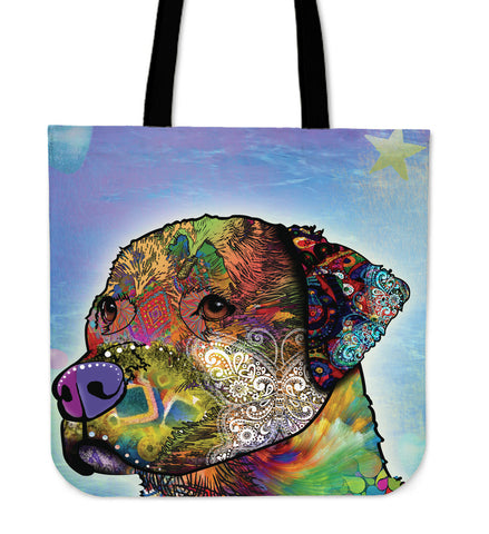 Blue Dog Tote Bag K4