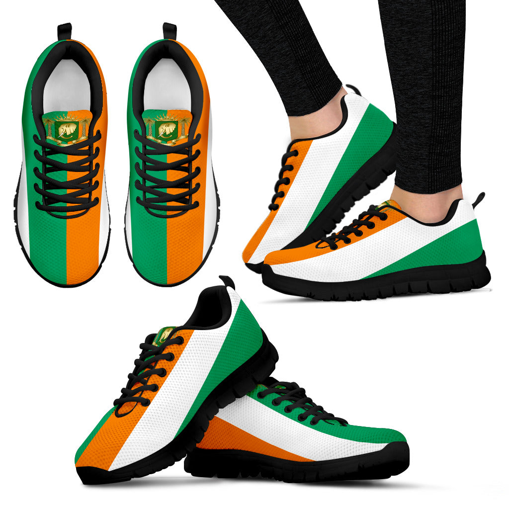 Ivory Coast Sneakers Coat Of Arms Lovetheworld