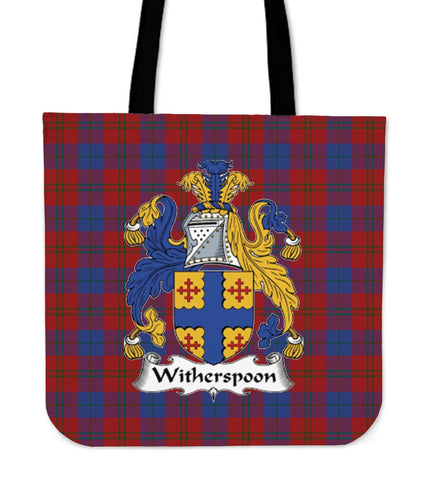 Tartan Tote Bag - Witherspoon Clan Badge | Special Custom Design