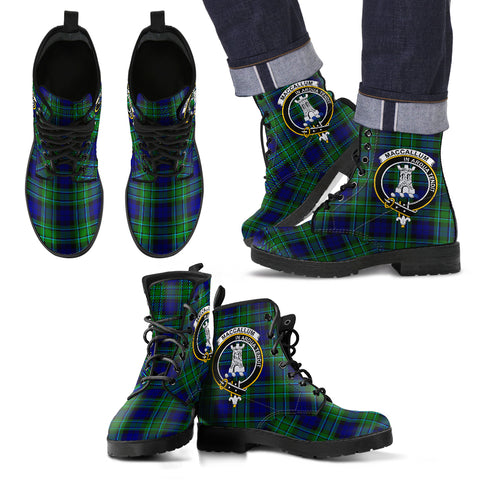 Maccallum Tartan Clan Badge Leather Boots Hj4 |Footwear| Love The World