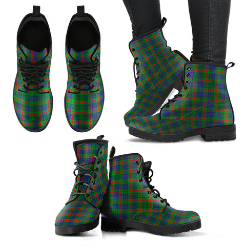 Image of Aiton Tartan Leather Boots Hj4 |Footwear| Love The World