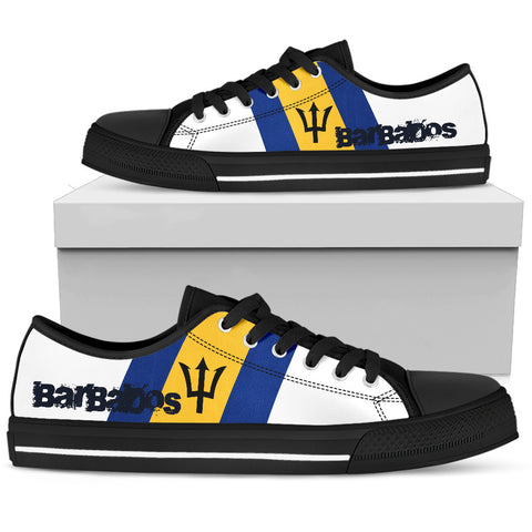 Image of Barbados Flag (Men'S/Women'S) Canvas Shoes A2 |Footwear| 1sttheworld