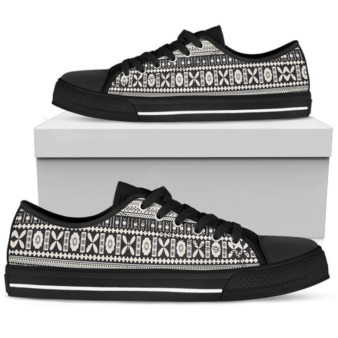 Fiji-Fijian Tapa High Top Canvas Shoes NN9