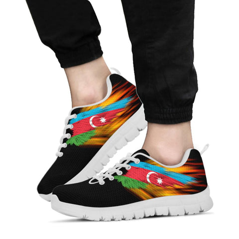 Azerbaijan Sneakers - Fire Wings and Flag A188