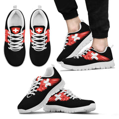 Switzerland (Men's / Women's) Black & White Sneakers A5