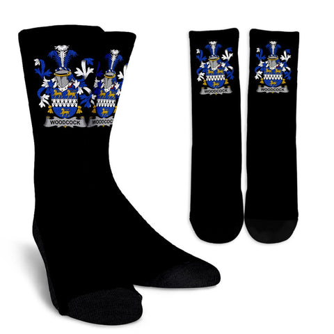 Woodcock Ireland Crew Socks - Irish Family Crest  | Over 1400 Crests | High Quality | 1sttheworld