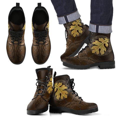 Image of Celtic Leather Boots - Celtic Oak Leaf NN8