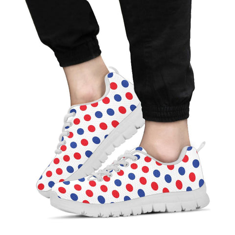 Image of France Sneakers - Francais Flag Polka Dots Basic