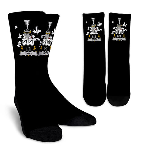 Yeates Ireland Crew Socks - Irish Family Crest  | Over 1400 Crests | High Quality | 1sttheworld