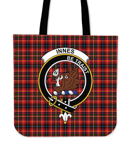 Tartan Tote Bag - Innes Modern Clan Badge | Special Custom Design