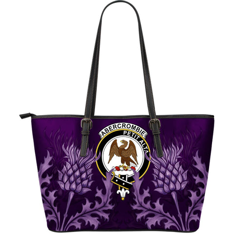 Abercrombie Leather Tote Bag - Scottish Thistle (Large Size) A7