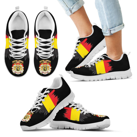 Image of Belgium Sneakers with Coat Of Arms and Flag K4