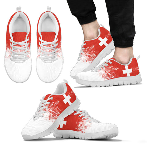 Switzerland Flag Sneakers H4 | 1sttheworld.com