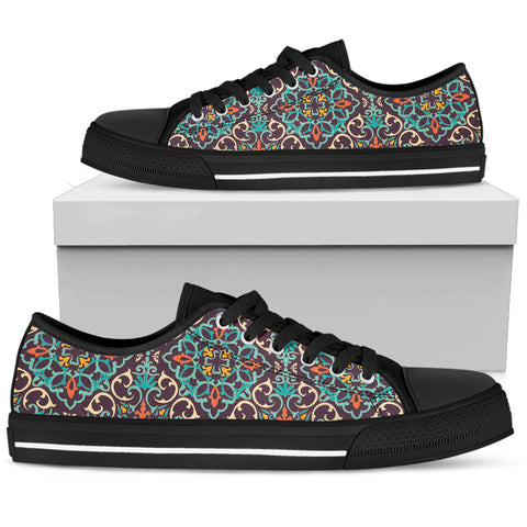 Portugal Low Top Shoe - Azulejos Pattern 22 Z3