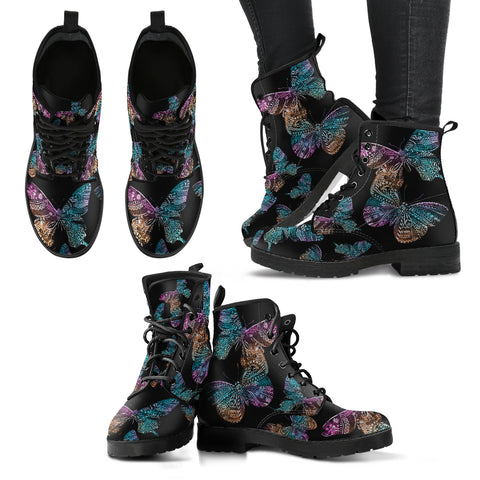 Boho Butterfly Women'S Leather Boots Th55 |Footwear| Love The World