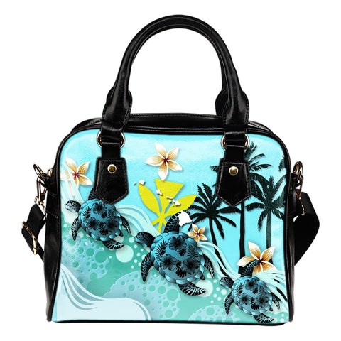 Hawaii Shoulder Handbag - Blue Turtle Hibiscus | Love The World