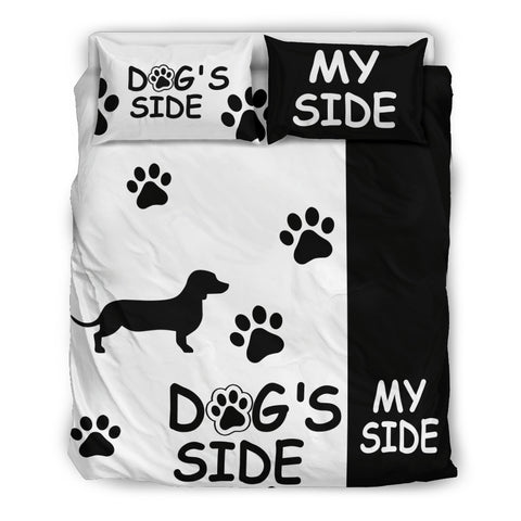 Dachshund Dog Side My Side Bedding Set