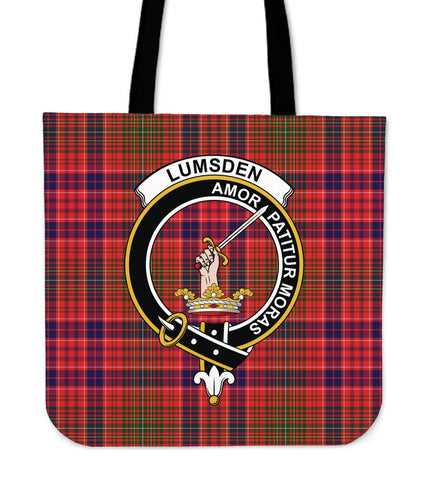 Tartan Tote Bag - Lumsden Modern Clan Badge | Special Custom Design