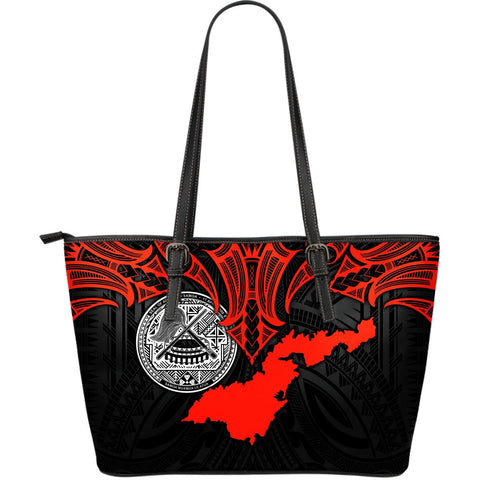 American Samoa Polynesian Leather Tote - Whale Tail