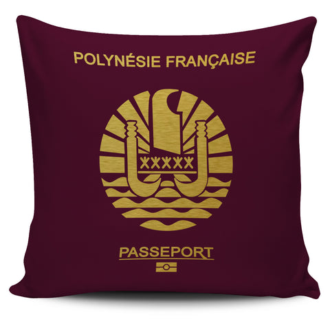 French Polynesia Pillow Cover - Passport Version - Bn04