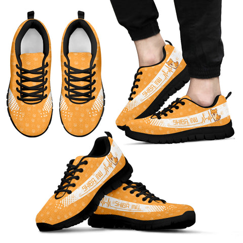 Image of Shiba Inu Heartbeat Sneakers - Footprints TH0