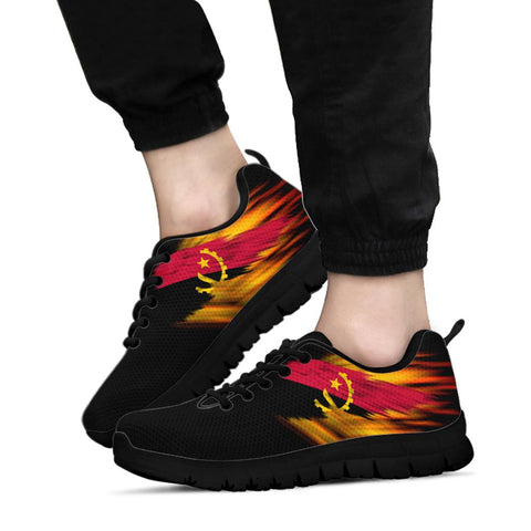 Angola Sneakers - Fire Wings and Flag A188
